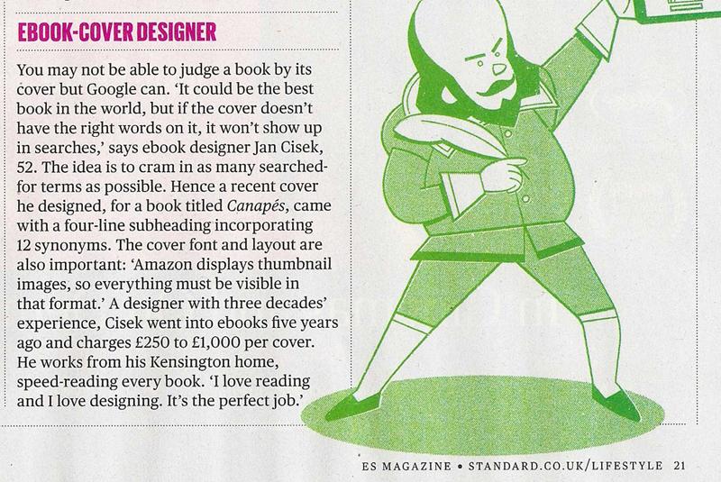 Ebook-cover designer featured in ES Magazine